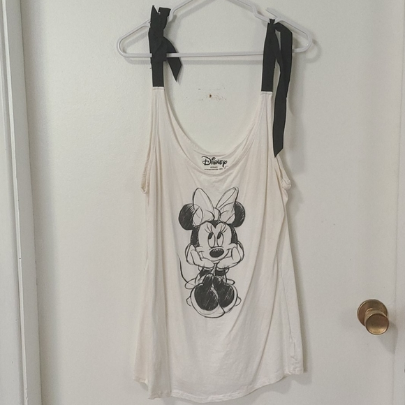 Minnie mouse tank with bow straps